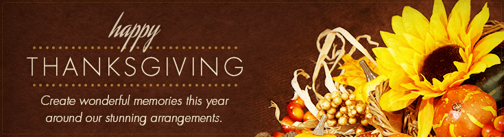 Thanksgiving Floral & Gift Selections
