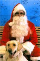Katie and Santa 2008