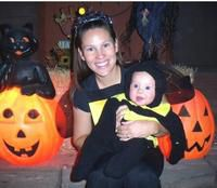 Michele and Karstyn...two cute bumblebees!